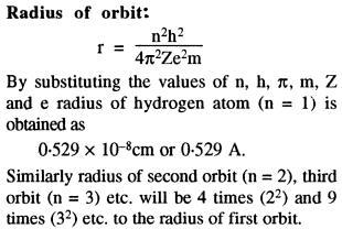 Radius of Orbit 0.529 Angstrom into n square
