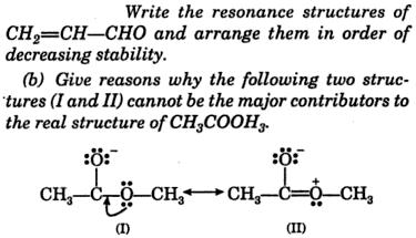 resonance structure of CH2=CH-CHO 1