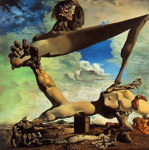 Salvador-Dali abstract art hand holding