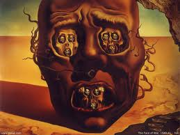 Salvador Dali faces in face eyes