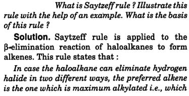 Saytzeff rule explained 1