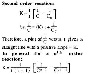second order reaction n th order reaction