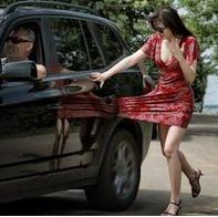 skirt caught in car door