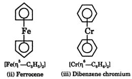 structure of Ferrocene and Dibenzenechromium