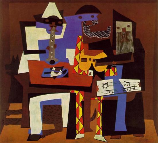 Three-Musicians-1921 Pablo Picasso