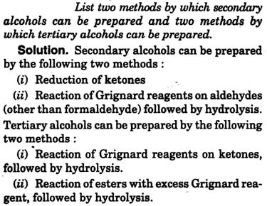 Two methods to prepare secondary alcohols, tertiary alcohols