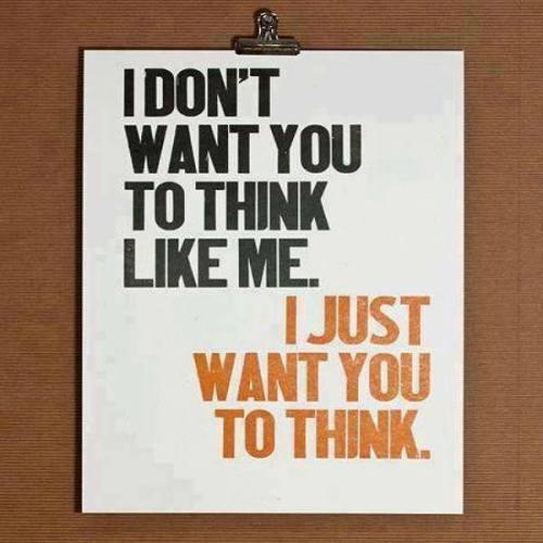 want u 2 think