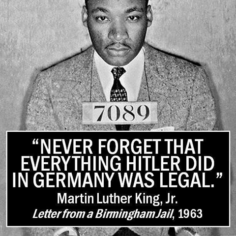 What Hitler did was legal
