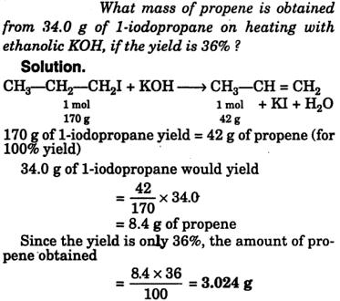 what is the mass of propane obtained
