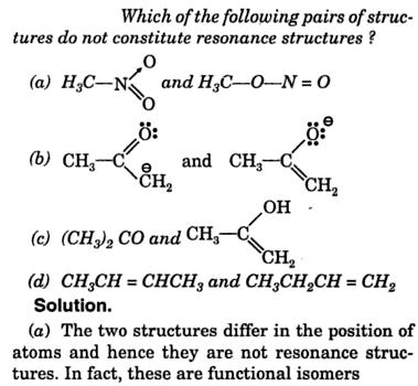 which are not resonance structure 1