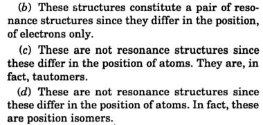 which are not resonance structure 2