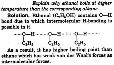 why ethanol boils at higher temperature