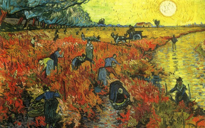 working in the fields Vincent van-gogh