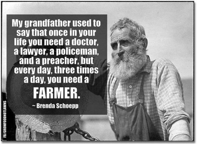you need a farmer