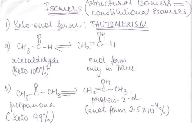 1 Keto enol form tautomarism