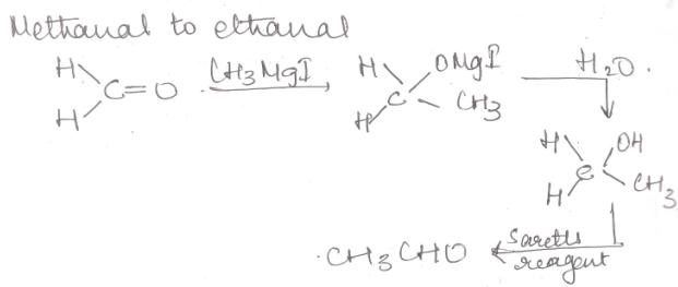 1 Methanal to Ethanal