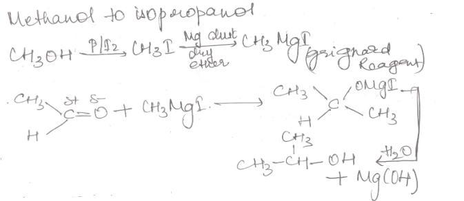 1 Methanol to isopropanol