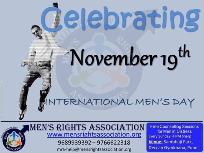 1 Novenber 19 th is International mens day