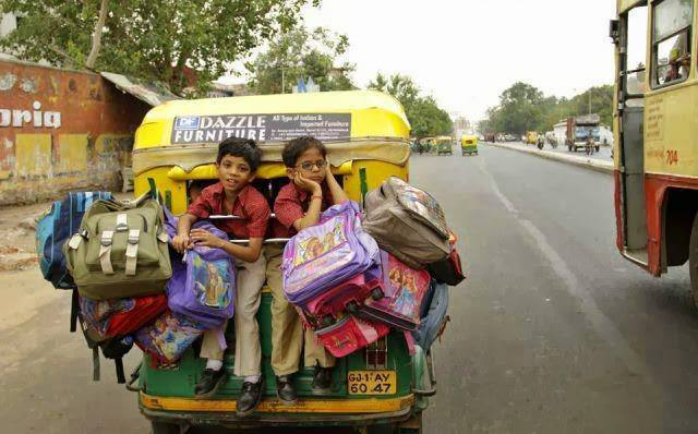 1 Overloaded tempo children going to school