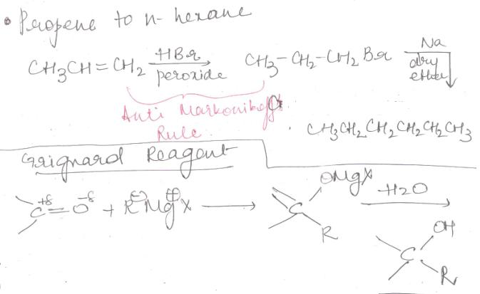 1 Propene to n-hexane
