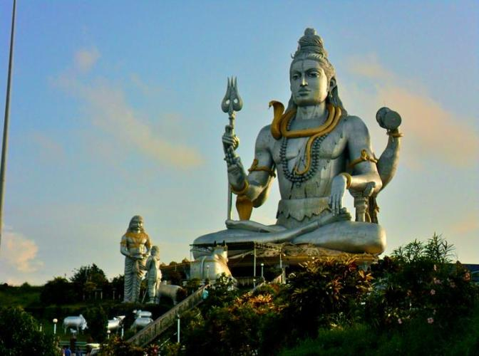 1 Shiva statue near Goa in Karnataka
