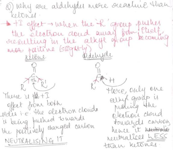 1 why aldehydes r more reactive than ketones