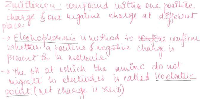 1 Zwitterions electrophoresis