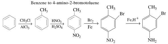1a Benzene to 4-amino-2-bromotoluene