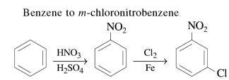 1a Benzene to m-chloronitrobenzene
