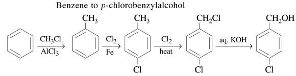 1a Benzene to p-chlorobenzylalcohol