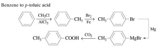 1a Benzene to p-toluic acid