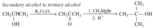 1a Secondary alcohol to tertiary alcohol