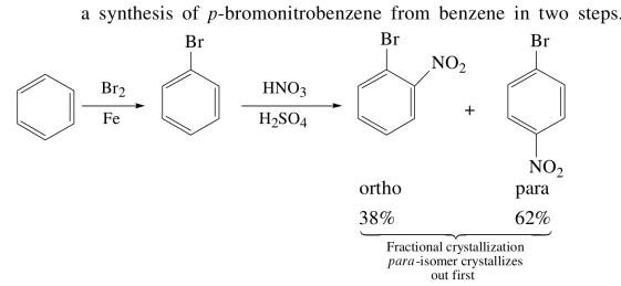 1a synthesis of p bromonitrobenzene in 2 steps