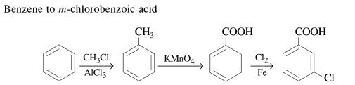 1b Benzene to m-chlorobenzoic acid