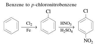 1b Benzene to p-chloronitrobenzene
