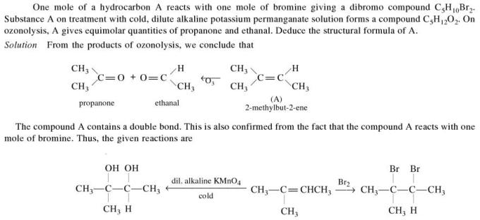 1b reacts with Bromine to give dibromo compound