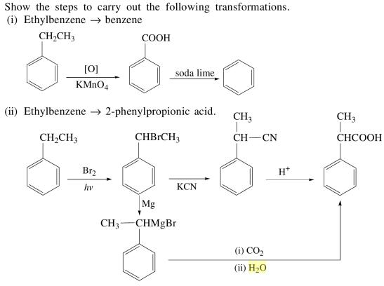 1c Steps to carry out the transformations