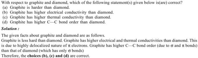 1d graphite and diamand comparison