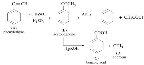 1d Organic compound A C8H6 on treatment