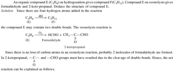 1e Organic compound C5H8 on hydrogenation