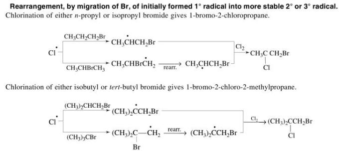 1e Rearrangement by migration of Bromine