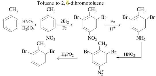 1e Tolune to 2,6-dibromotoluene