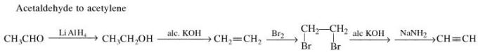 1f Acetaldehyde to acetylene