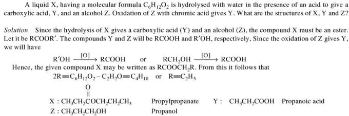 1f Liquid X having molecular formula C6H12O2