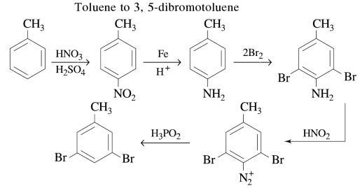 1f Toluene to 3,5 dibromotoluene