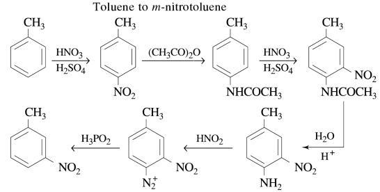 1g Toluene to m nitrotoluene