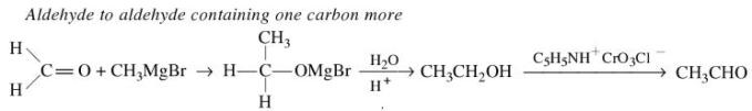 1h Aldehyde to aldehyde containing one carbon more