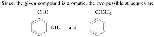 1h aromatic compound contains 69.4 percent carbon