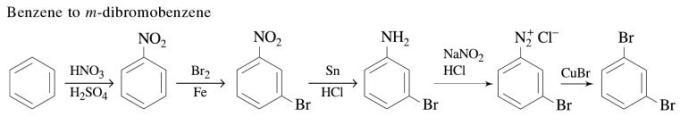 1h Benzene to m-dibromobenzene