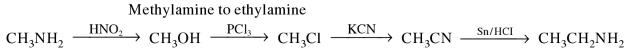 1i Methylamine to ethylamine